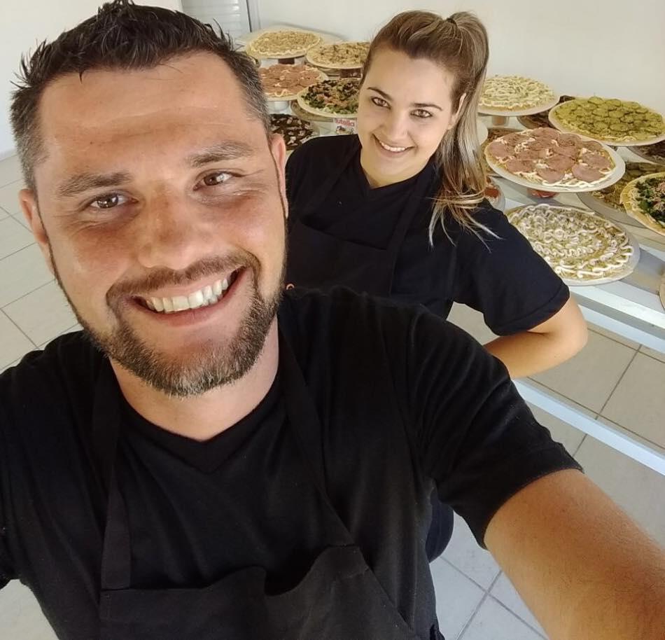 Buffet de pizza para casamento